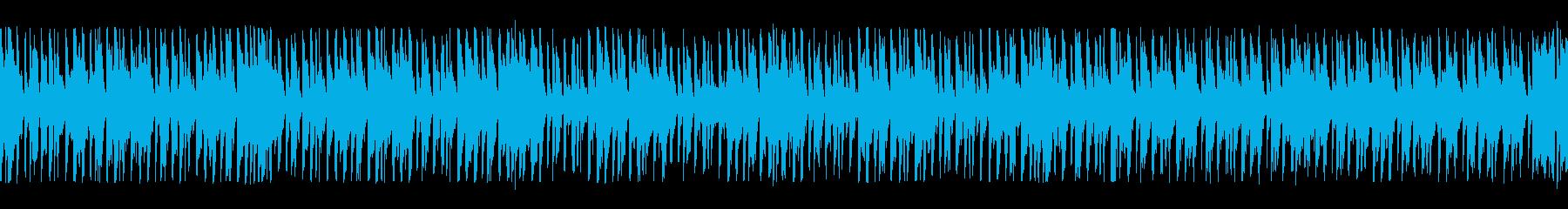 淡々と進めていくBGMの再生済みの波形