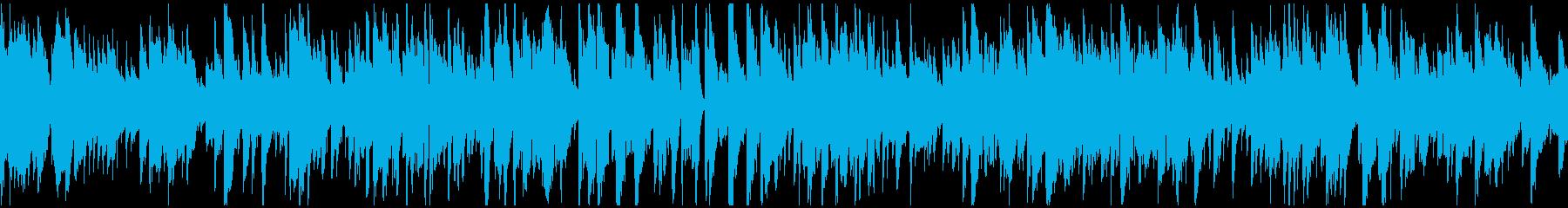 静かなボサノバ、リラックス ※ループ版の再生済みの波形