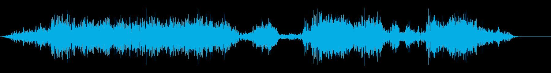 突風;中程度のハウリング風、口Eの...の再生済みの波形