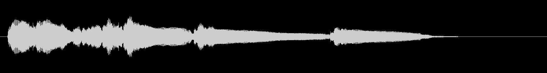 生音エレキギター5弦チューニング2エコーの未再生の波形