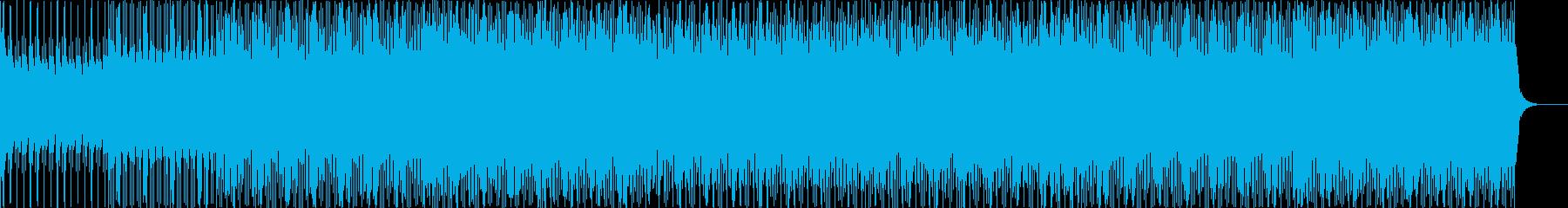 ピアノとギターのシンプルハウスの再生済みの波形