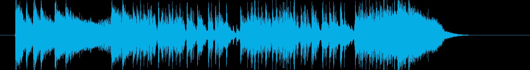 洗練されたベースやドラムによるロックの再生済みの波形