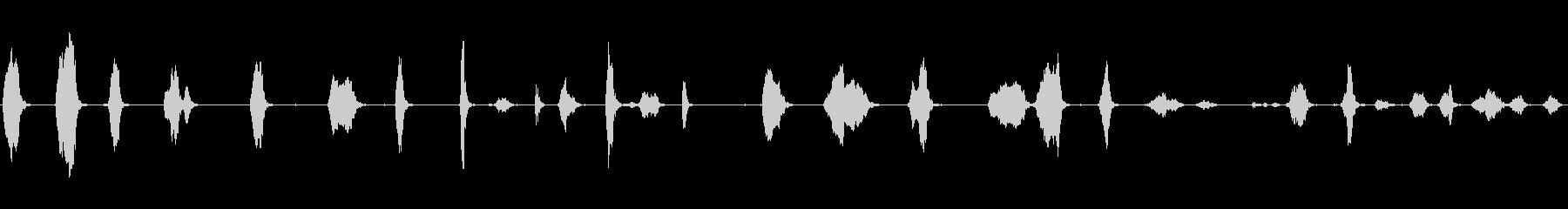 男性:苦しみの声の未再生の波形