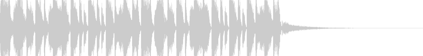 ダンサブルでダブステップなジングルBGMの未再生の波形