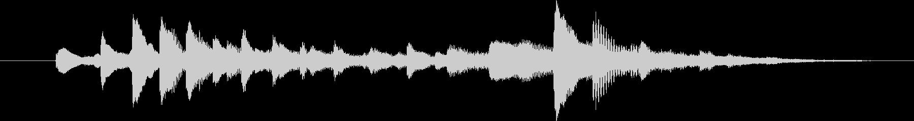 ピアノの音色で風の流れを表現したジングルの未再生の波形