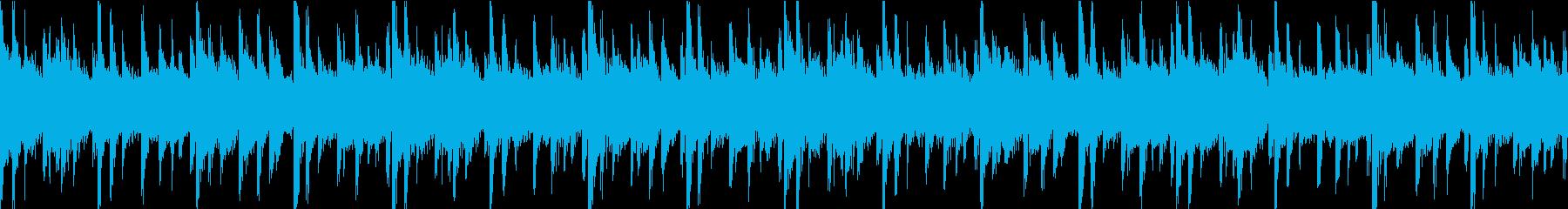 シンプルなループ素材の再生済みの波形