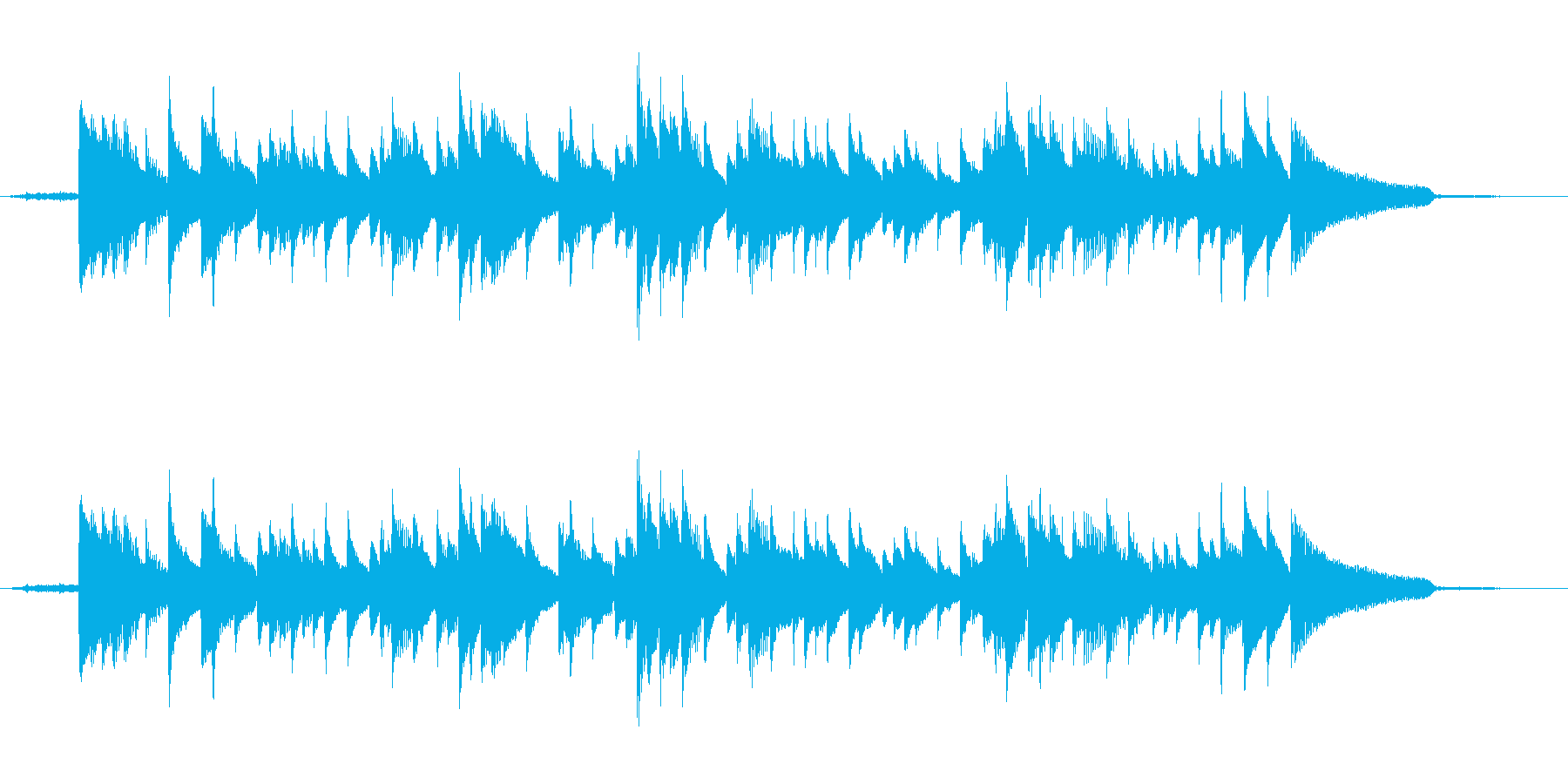朝の空気とガットギターの再生済みの波形