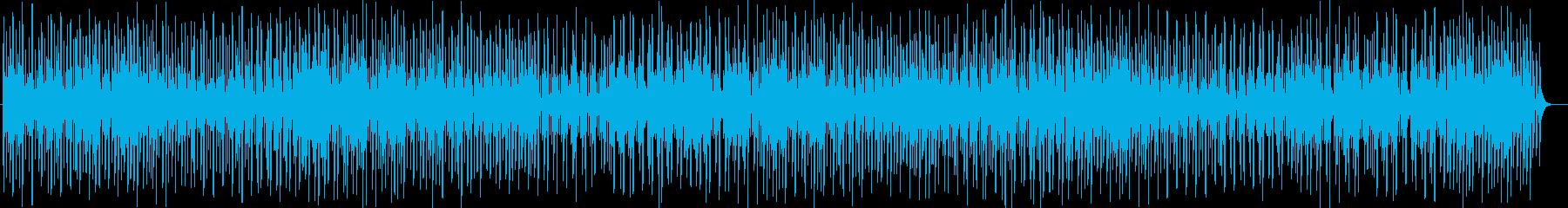 癒し系シンセサイザーなどのサウンドの再生済みの波形