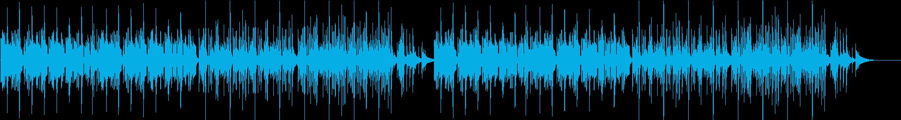 素朴でゆったり、まったりとした優しい曲の再生済みの波形