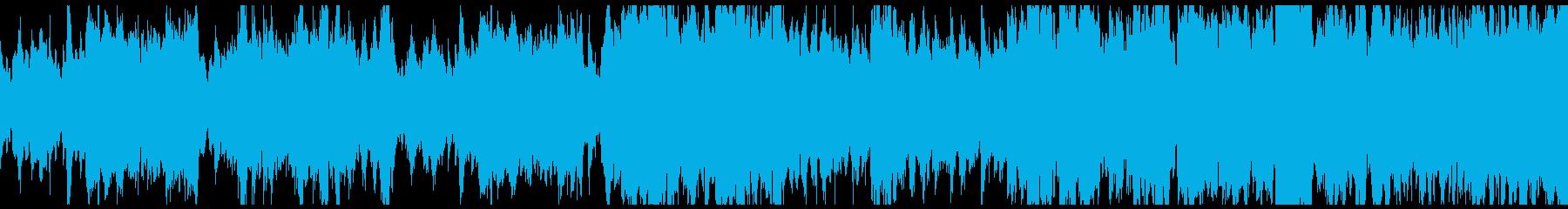 ブラスがメインの激しい戦闘曲 ループ可の再生済みの波形