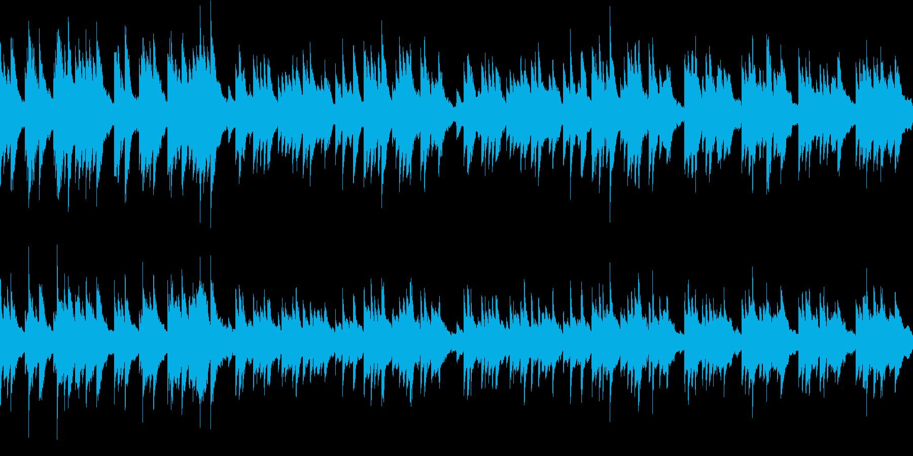穏やかで優しい映像用音楽(エレピのみ)の再生済みの波形