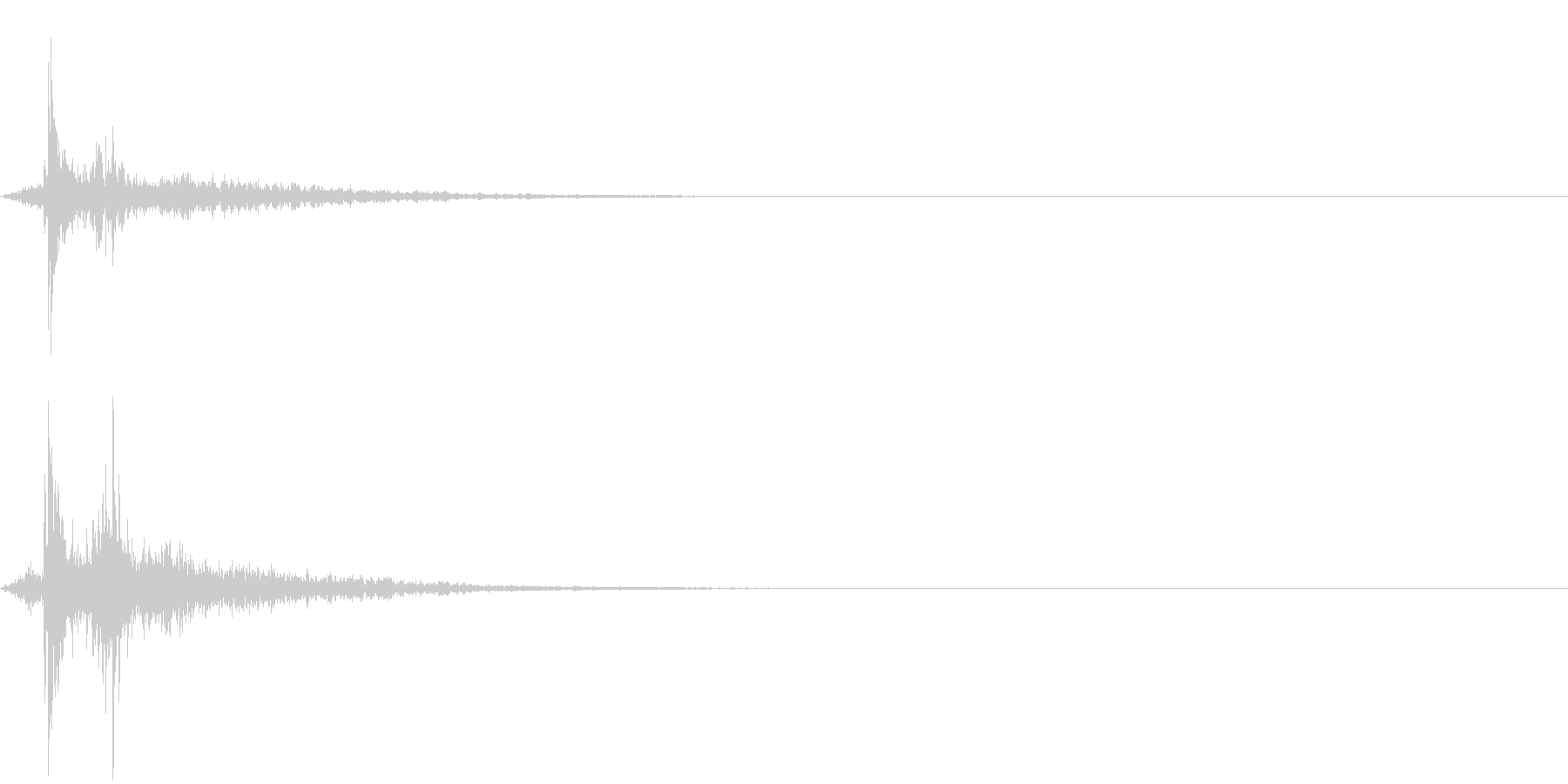 水滴 2の未再生の波形