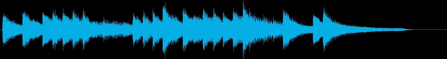温かみある優しいメロディのピアノジングルの再生済みの波形
