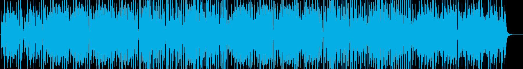 お洒落で明るい雰囲気のアコーディオン曲の再生済みの波形