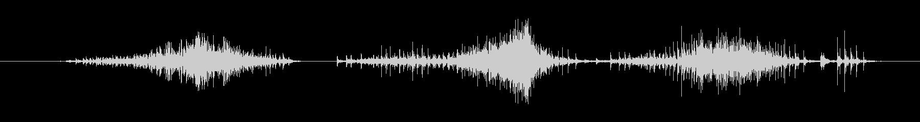 ジー(ポーチのジッパー開ける音)の未再生の波形