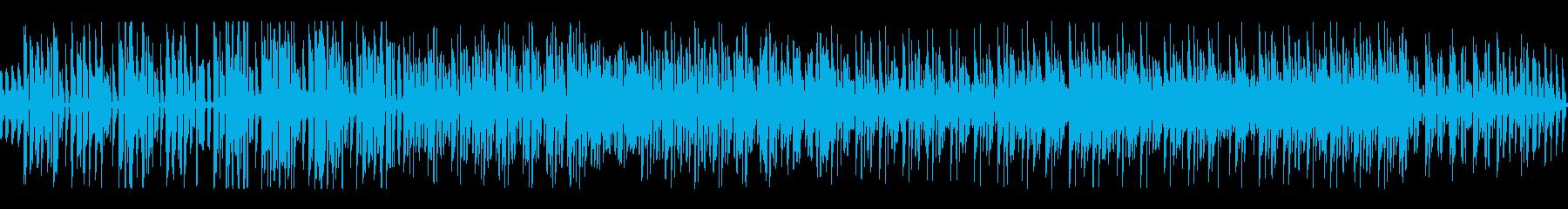 軽快で爽やかなハウスの無限ループの再生済みの波形