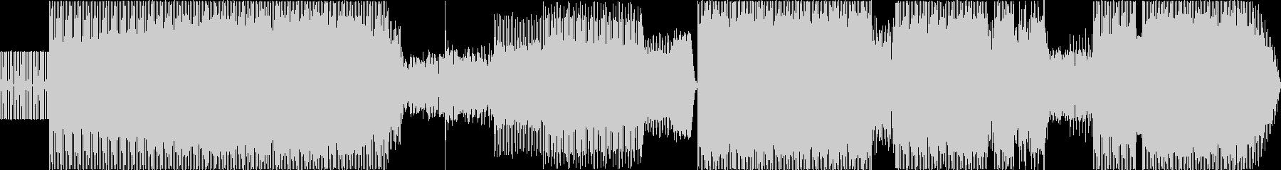 トランス。シンセと音声が歪んで、と...の未再生の波形