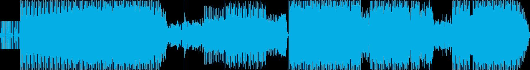 トランス。シンセと音声が歪んで、と...の再生済みの波形