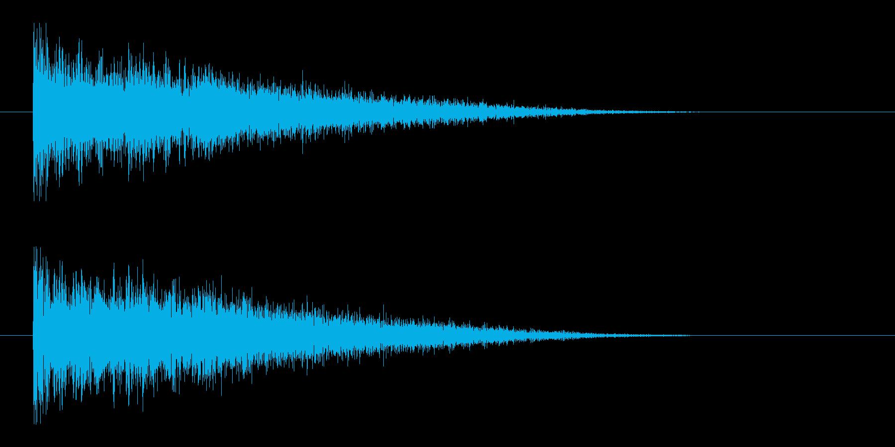 レーザー音-145-3の再生済みの波形