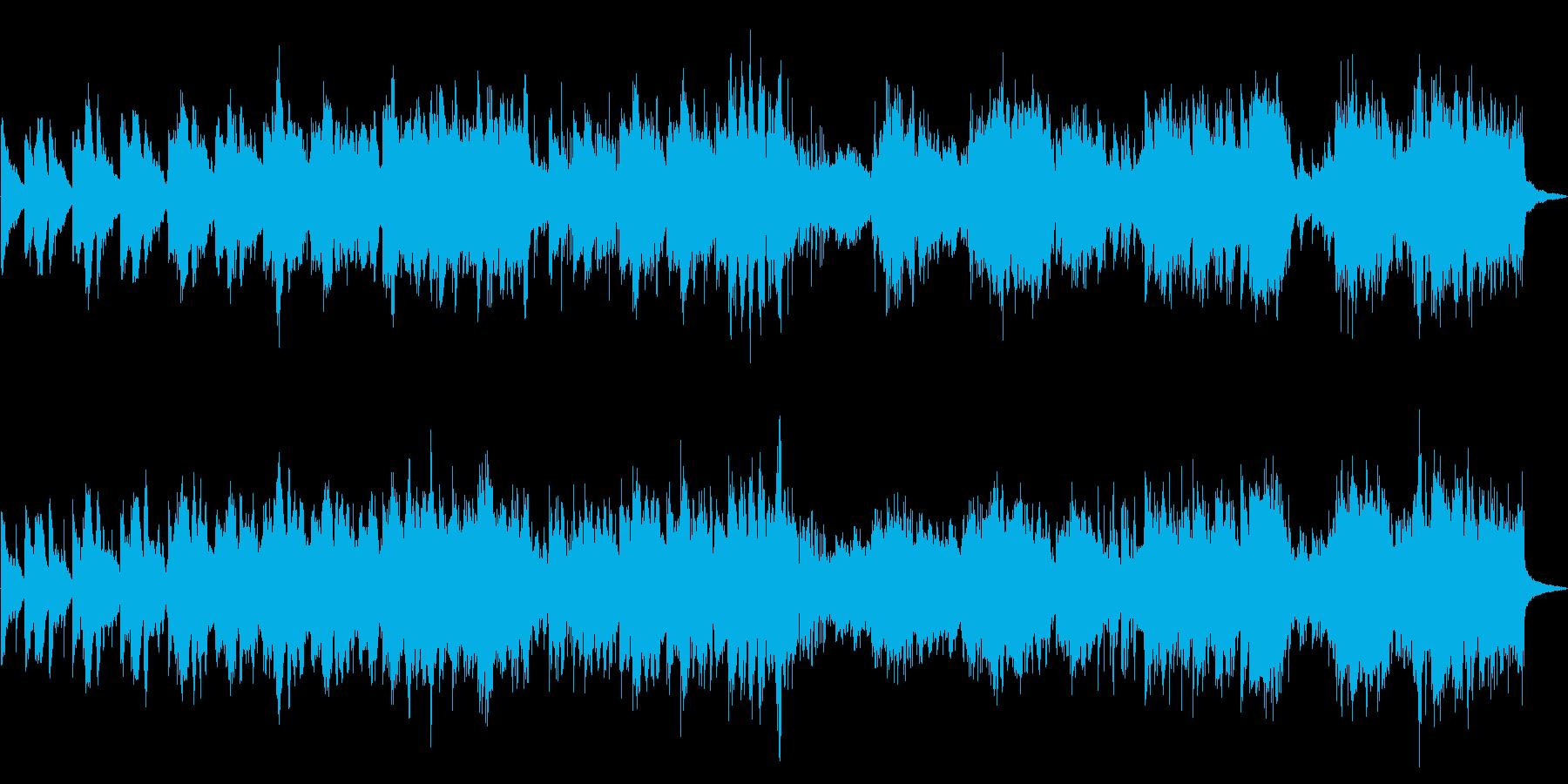 民族楽器のリズムが印象的な探索系の再生済みの波形