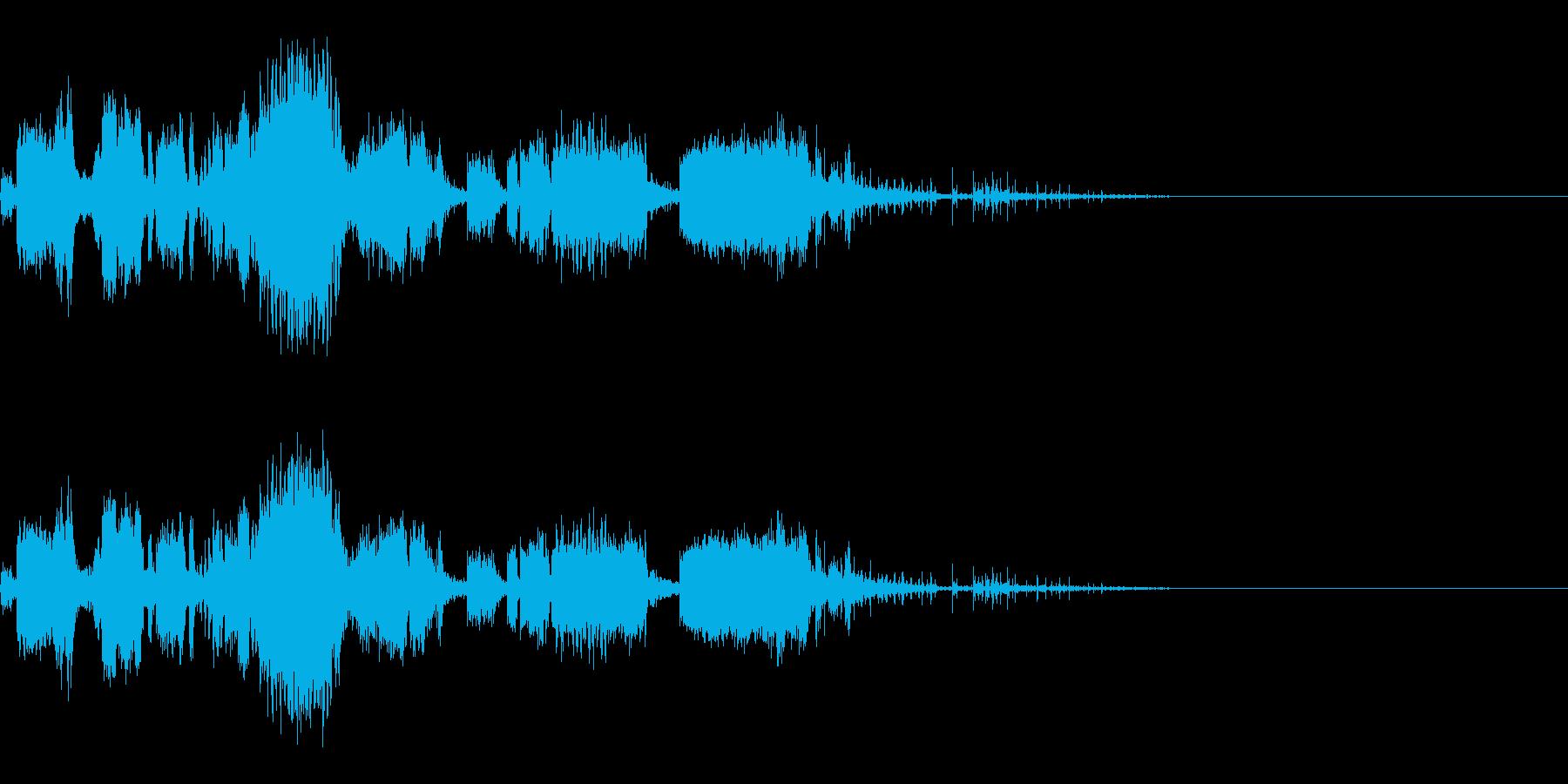 スパーク音-33の再生済みの波形