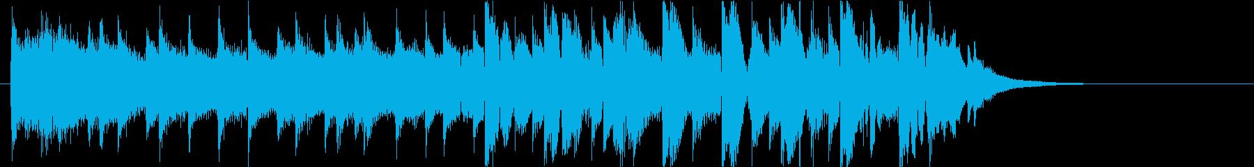【ジングル】EDM・さわやか・後半ビートの再生済みの波形