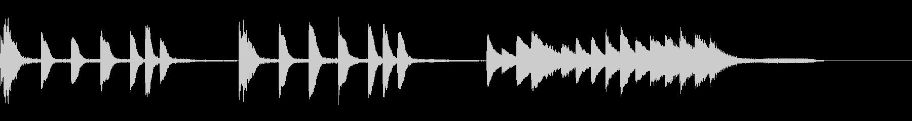 ループ可能怪しい場面のピアノソロの未再生の波形