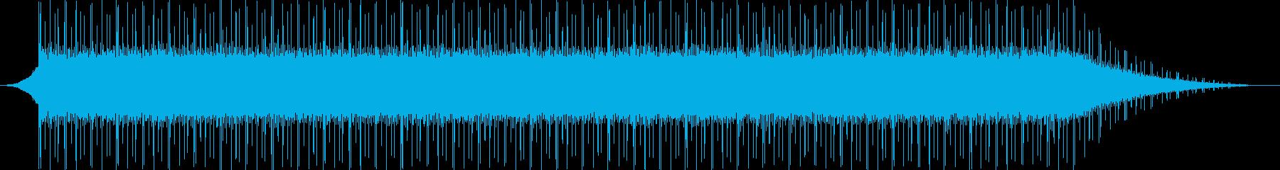 クールな戦闘BGMの再生済みの波形