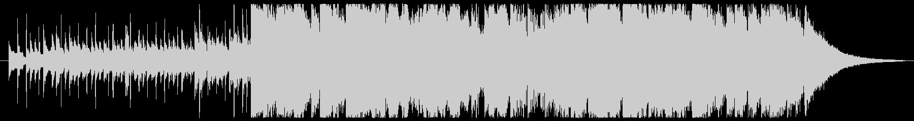 尺八フルートのモダンなサウンドの未再生の波形