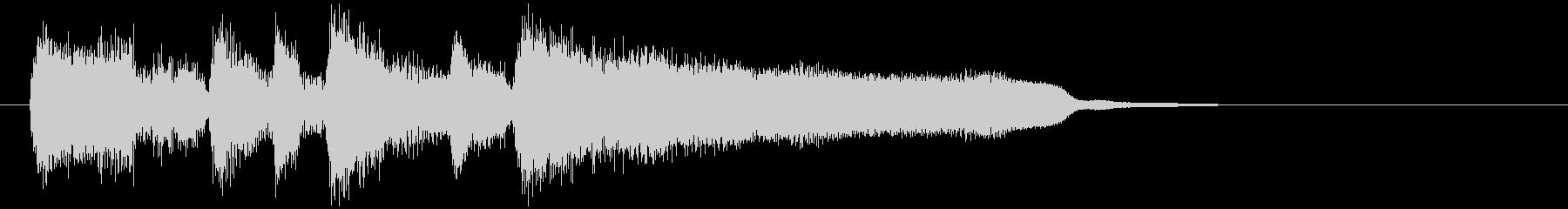 お洒落なサウンドロゴ、サックス生演奏の未再生の波形