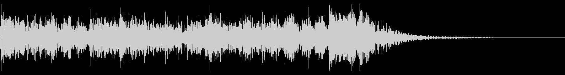 YouTube尺八による和風ジングル05の未再生の波形