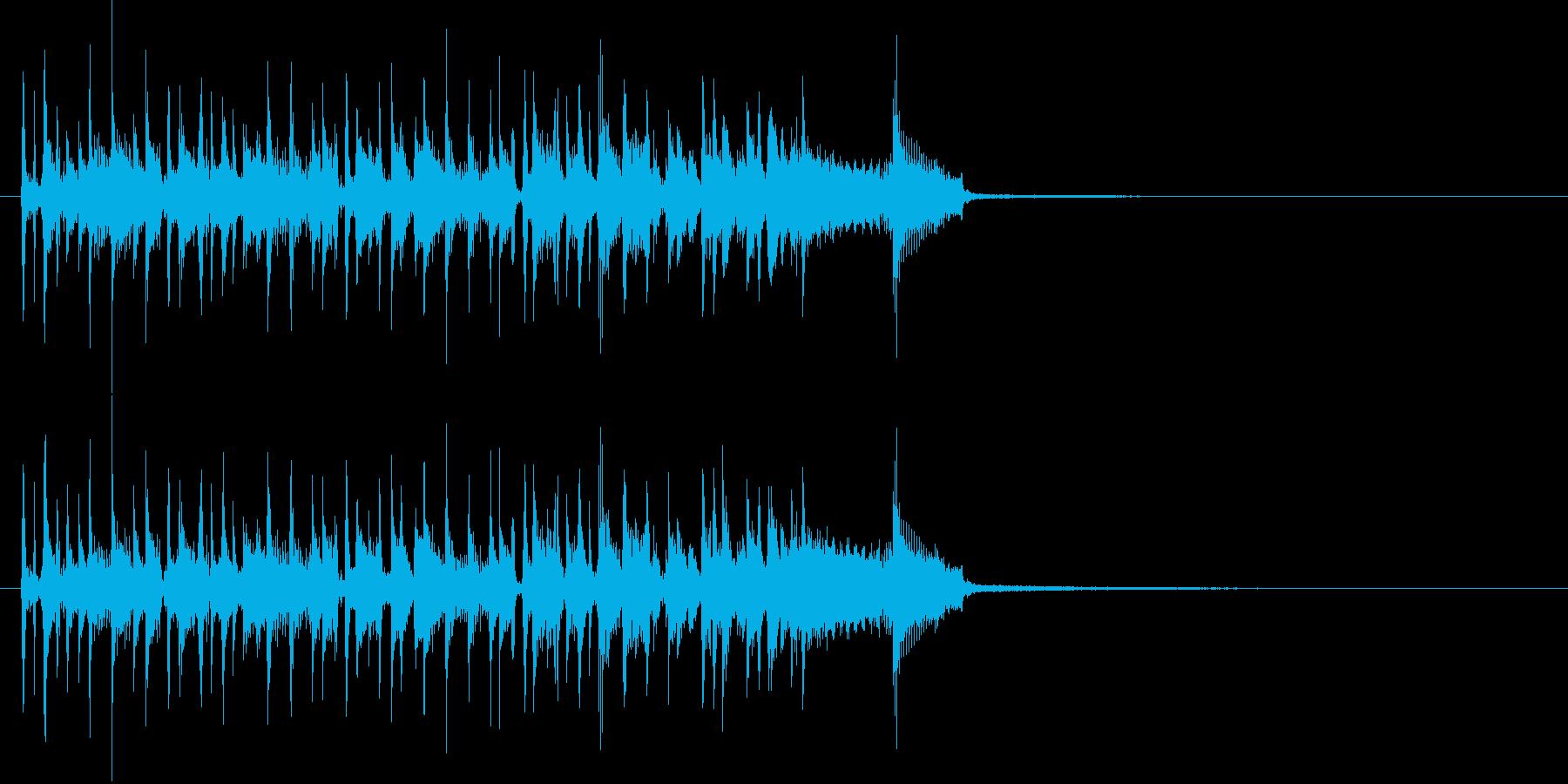 Bassスラップ風アイキャッチの再生済みの波形