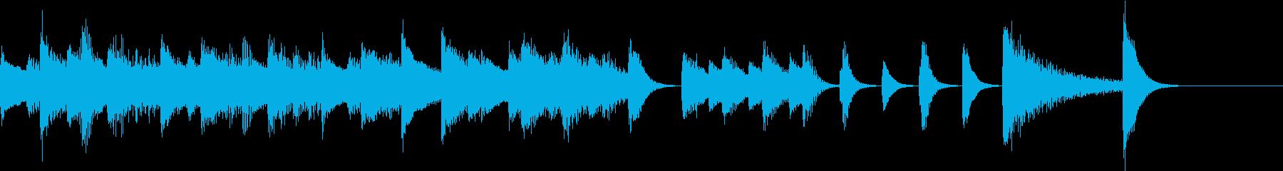 のんびりレトロな雰囲気のピアノジングルの再生済みの波形
