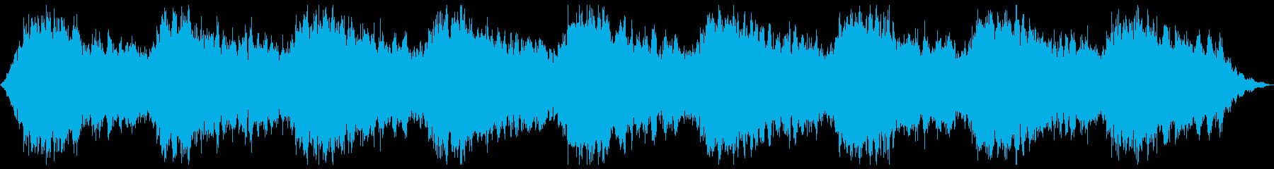 神秘的で広がりのあるアンビエントの再生済みの波形
