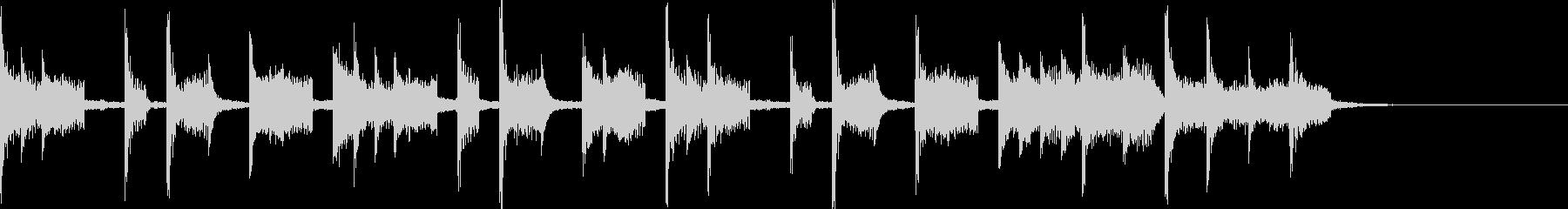 アンニュイな感じのシンキングタイムな音の未再生の波形