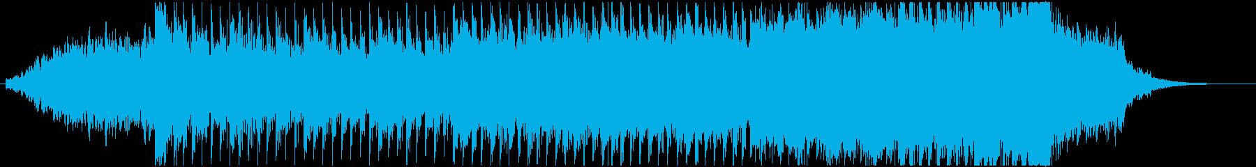 シンセサイザーやサックスを使用した暗い曲の再生済みの波形