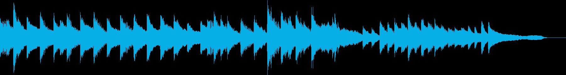気高くまっすぐなバラードピアノジングルの再生済みの波形