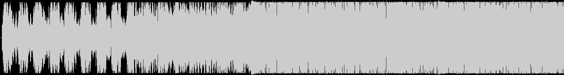 シンセ主体のサイバーチックなテクノの未再生の波形