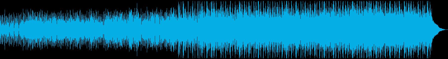 ミニマル風のゆったりと神秘的なテクノの再生済みの波形