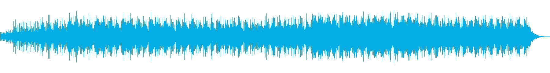 ゆったりと海で漂うイメージのサウンドの再生済みの波形