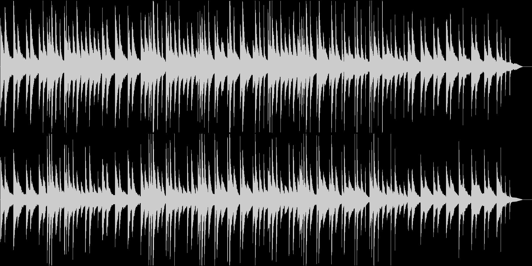 教会のような厳かなピアノソロBGMの未再生の波形
