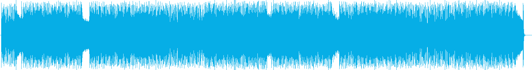 疾走感溢れるドラムとエレキのハードロックの再生済みの波形
