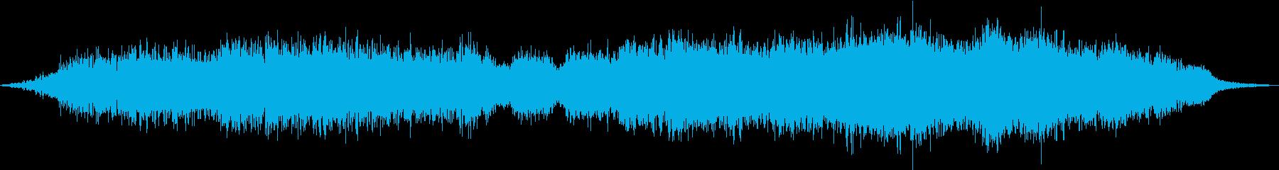 ダークなシーンの雰囲気にの再生済みの波形