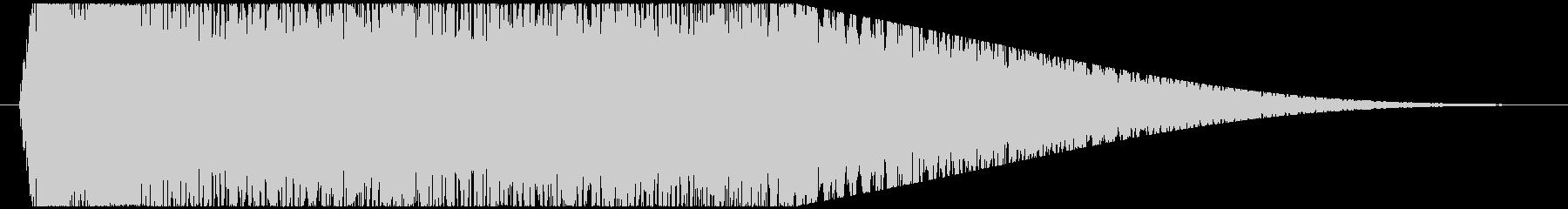 神秘的で透明感のあるアクセント音9の未再生の波形