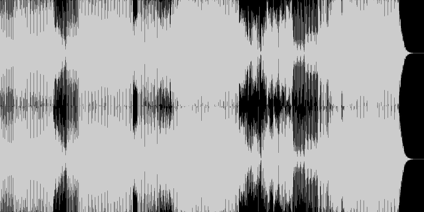未来的なサウンドのダンスミュージックの未再生の波形