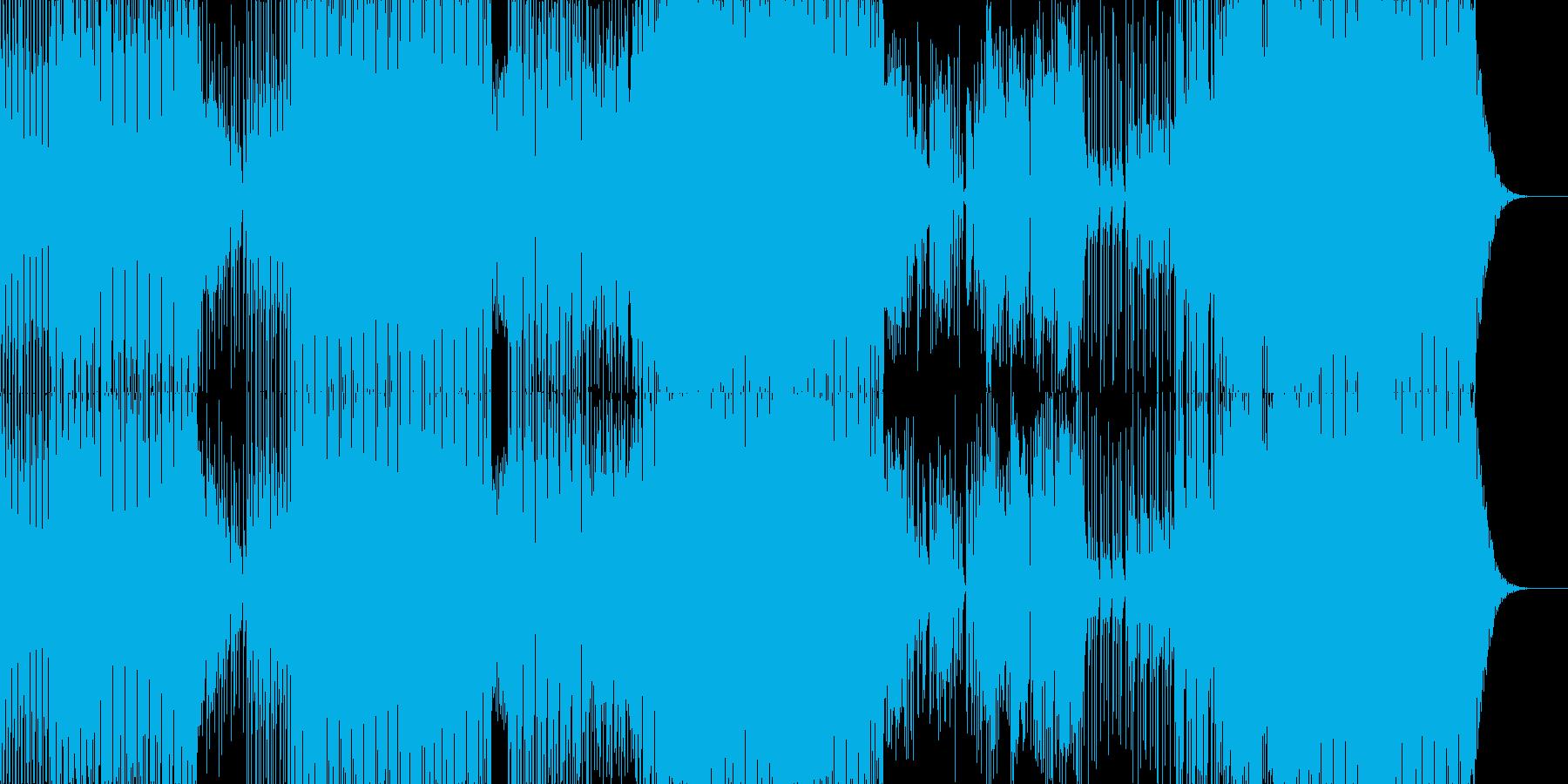 未来的なサウンドのダンスミュージックの再生済みの波形