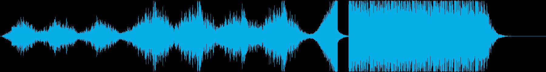 古いホラー風~打楽器◆予告編/トレーラーの再生済みの波形