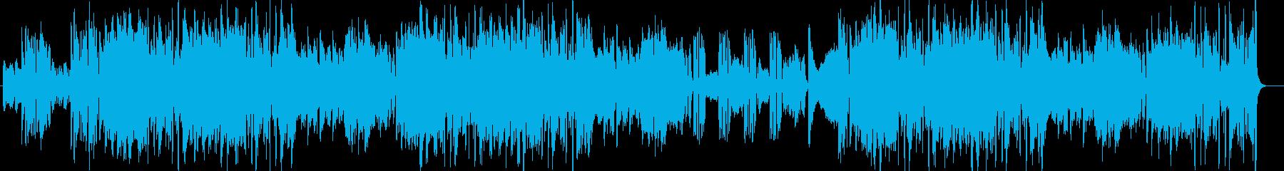 疾走感のあるボサノバの再生済みの波形