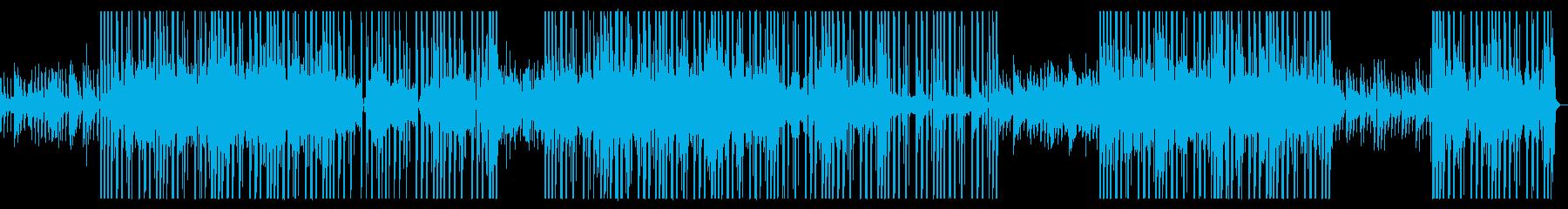 おしゃれR&B系ゆったりポップ、インストの再生済みの波形