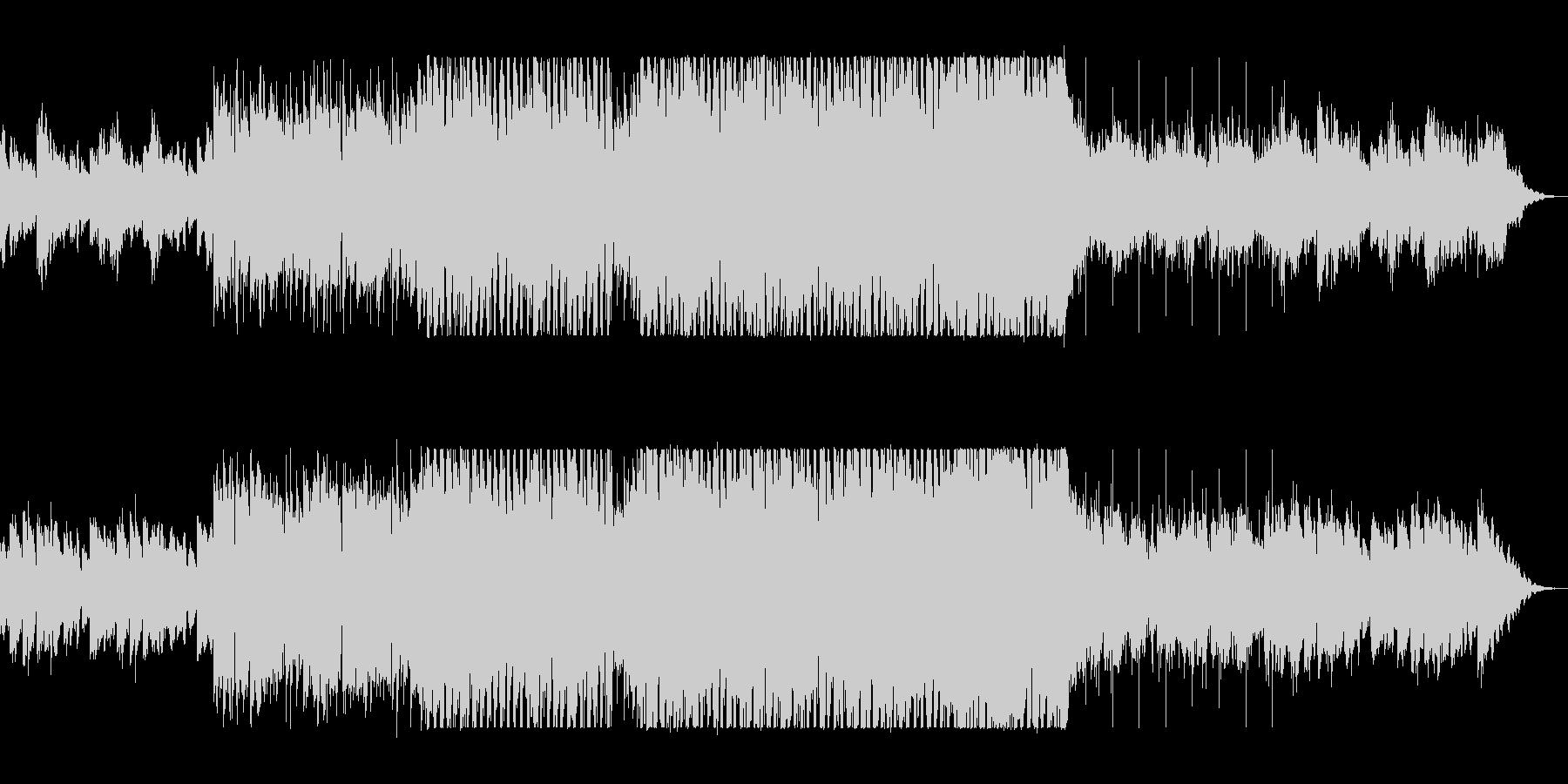 しっとりアップテンポのシンセサイザーの曲の未再生の波形